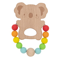 Tiger Tribe - Wooden Silicone Teether – Koala