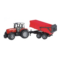 Bruder - Massey Ferguson 7480 Tractor with Tipping Trailer 02045