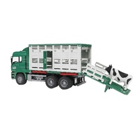 Bruder - MAN Rear Loading Cattle Truck with Cow 02749