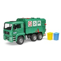 Bruder - MAN TGA Rear Loading Garbage Truck Green 02753