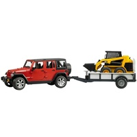Bruder - Jeep Wrangler Rubicon with Trailer & CAT Skid Steer 02925