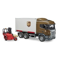 Bruder - Scania R-Series UPS Logistics Truck with Forklift 03581