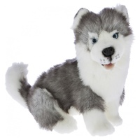 Bocchetta - Button Siberian Husky Sitting Plush Toy 26cm