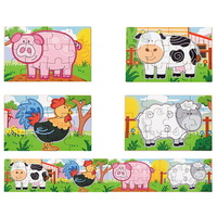Viga Toys - 4-in-1 Farm Puzzle