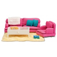 Lundby - Smaland Pink Sitting Room Set