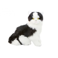 Bocchetta - Angus Black & White Cat Sitting Plush Toy 33cm