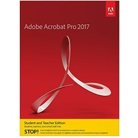 Adobe Acrobat Pro 2017 Windows Student/Teacher DVD
