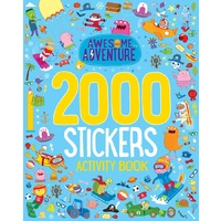 Lake Press - Awesome Adventure 2000 Stickers Activity Book