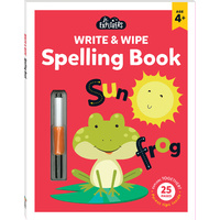 Hinkler - Junior Explorers - Write & Wipe: Spelling Book