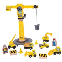 Bigjigs - Big Crane Construction Set