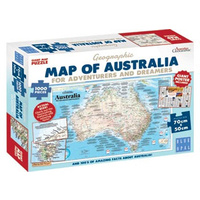 Blue Opal - Map of Australia for Adventures & Dreamers Map Puzzle 1000pc
