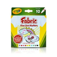 Crayola - Fabric Fine Line Markers (10 pack)