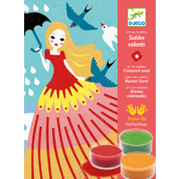 Djeco - Girls' Day Out Coloured Sand Kit