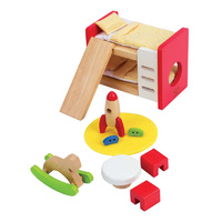 Hape - All Seasons Dollhouse Children's Bedroom
