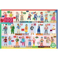 eeBoo - Children of the World Puzzle 100pc