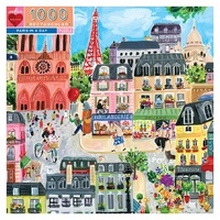eeBoo - Paris in a Day Puzzle 1000pc