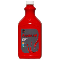 Aquacryl Student Acrylic Paint 2 Litres Warm Red