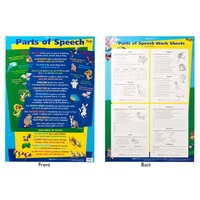 Gillian Miles - Parts of Speech Double Sided Wall Chart
