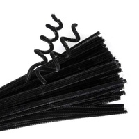 EC - Chenille Stems Black (100 pack)