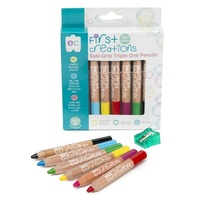First Creations - Easi-Grip Triple One Watercolour Wooden Pencils (6 pack)