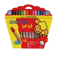 Giotto - Be-Be Super Jumbo Coloured Pencils (12 pack)