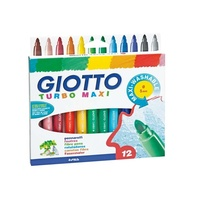 Giotto - Turbo Maxi Marker Pens (12 pack)