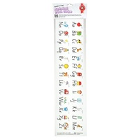 Learning Can Be Fun - Alphabet Desk Strip Foundation Script