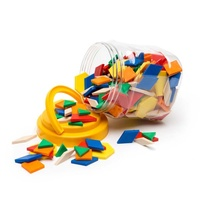 Learning Can Be Fun - Solid Plastic Pattern Blocks (jar of 250)