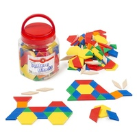 Learning Can Be Fun - Solid Plastic Pattern Blocks (jar of 126)