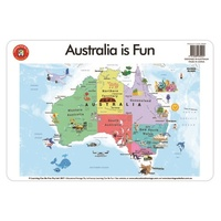Learning Can Be Fun - Australia Is Fun Placemat