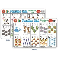 Learning Can Be Fun - Practise Mat - Numbers 1-10