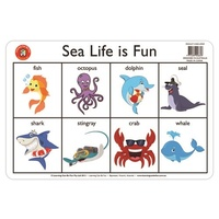Learning Can Be Fun - Sealife Placemat