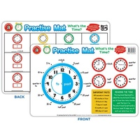 Learning Can Be Fun - Practise Mat - What's the Time?