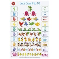 Learning Can Be Fun - Lets Count To Ten Poster