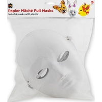 EC - Paper Mache Mask Full (6 pack)