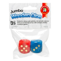 Learning Can Be Fun - Jumbo Wooden Dice (2 pack)
