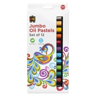 EC - Jumbo Oil Pastels (12 Pack)