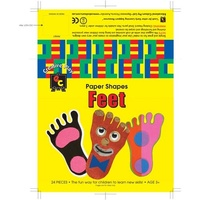 Paper Shapes Feet (24 pieces)