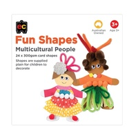 EC - Fun Shapes Multicultural People (24 pack)