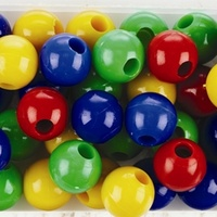 Bulk Pack of Plastic Beads - 4 colours (1000 pieces)