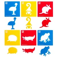 EC - Australian Animals Stencil Set 2 (pack of 6)