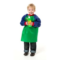 EC - Toddler Art Smock Green and Blue Ages 2-4