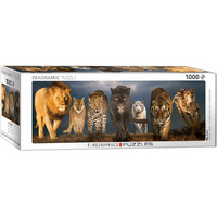 Eurographics - Big Cats Panoramic Puzzle 1000pc