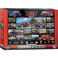 Eurographics - American Cars of the 1930's Puzzle 1000pc