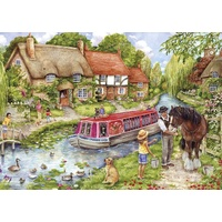 Gibsons - Drifting Downstream Large Piece Puzzle 100pc