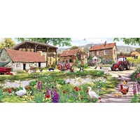 Gibsons - Duckling Farm Panorama Puzzle 636pc
