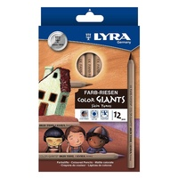 Lyra - Colour Giants Skin Tones Pencils (12 pack)