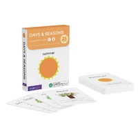 mierEdu - Cognitive Flash Cards - Days & Seasons