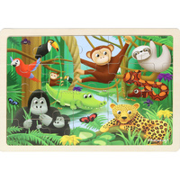 Masterkidz - Wooden Jigsaw Puzzle - Rainforest 20pc