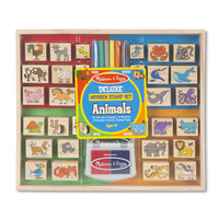 Melissa & Doug - Deluxe Wooden Stamp Set - Animals